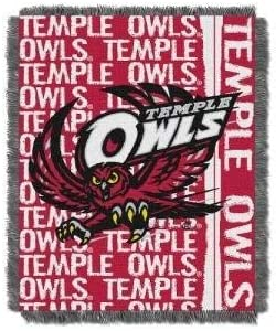 Multi Color 48 x 60 Officially Licensed NCAA Double Play Triple Woven Jacquard Throw Blanket