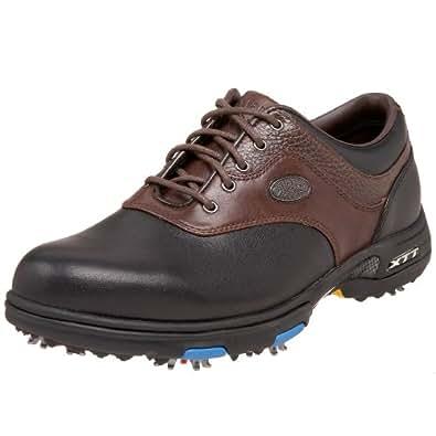 Callaway Men's XTT LT Golf Shoe,Black/Brown,10.5 W US