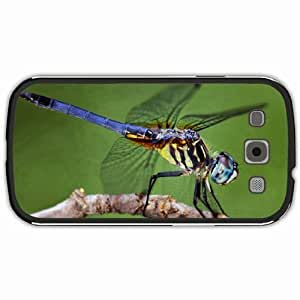 New Style Customized Back Cover Case For Samsung Galaxy S3 Hardshell Case, Black Back Cover Design Dragonfly Personalized Unique Case For Samsung S3