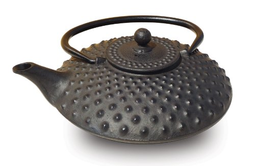 Old Dutch Cast Iron Amity Teapot, 26-Ounce, Black -