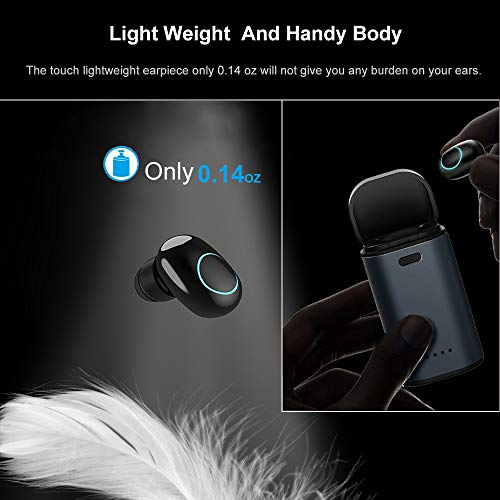Amazon.com: Bluetooth Earbud Mini Wireless Sports BT V4.2 Earphone in-Ear Car Headset Noise Cancelling Headphone Mic Single Tiny Invisible Earpiece with ...