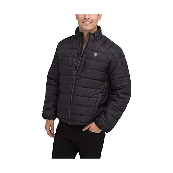 Kerrian Online Fashions 41EbQtOEYFL U.S. POLO ASSN. Mens Small Channel Quilted Puffer Jacket