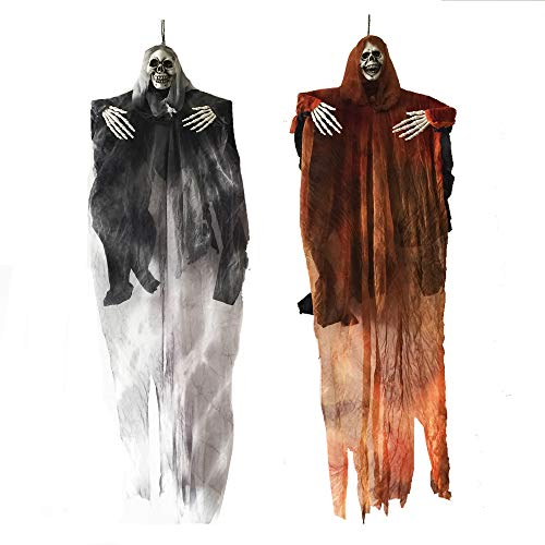 Tall Halloween Hanging Ghost Skeleton Reaper for Halloween Decorations -
