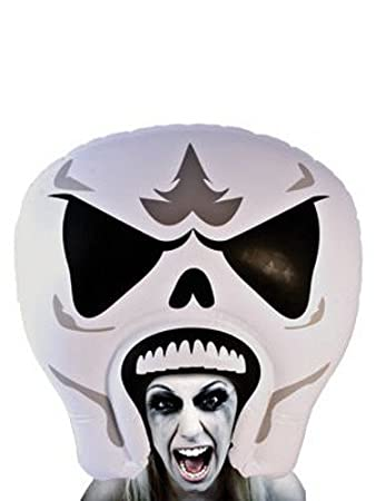 giant inflatable skull skeleton head halloween costume - Halloween Skeleton Head