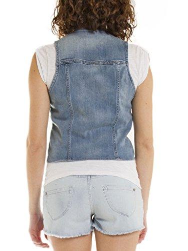 Gilet 490 Style Extensible Sans Lavage 546 Bleu Stone Manches Carrera Clair super Slim Western En Jean Pour Jeans Taille Wash Tissu Femme Cq4xw5