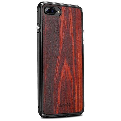 Vuage(TM) iPhone 7プラス7 6S 6プラスオリジナルの木製+メタルフレーム完璧な統合携帯電話のカバーケース新のために天然木の電話ケース B07BSB645D iPhone 4用7 iPhone 4用7