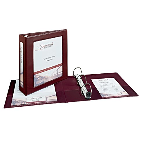 Avery Framed View Binders with One Touch 2-Inch EZD Ring, Holds 8.5 x 11 Inches Paper, Maroon (68035) by Avery