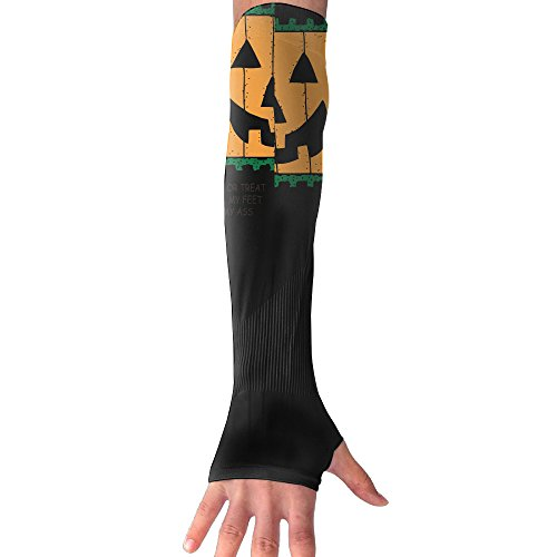 Sports Compression Arm Sleeve Pumpkin Face Trick Or Treat Kiss My Ass Fashion (Candy Rapper Costume)