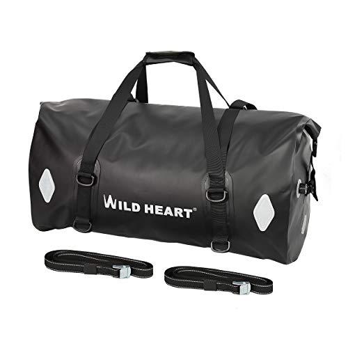 Motorcycle Duffle Bags - Waterproof Bag 55L 66L 77L Motorcycle Dry Duffel Bag for Travel,Motorcycling, Cycling,Hiking,Camping (77L, Black)
