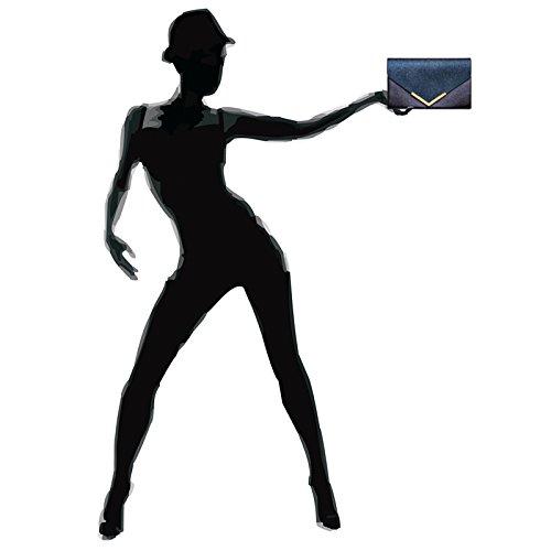sac Foncé forme métallique Pochette à de Bleu CASPAR femme TA430 soirée XL enveloppe pour main 60nxqwz7