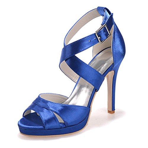 Sera Royal Delle Scarpe Del Donne Pompa Sposa toe Dell'alto Tallone Sandali Blu Di 5915 11 Da Partito Open Fantastica Più fw51qH