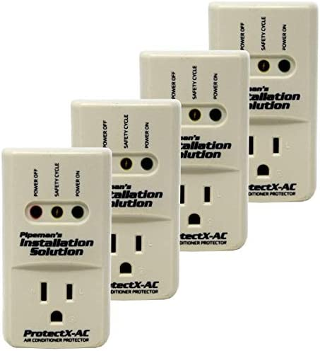 Pipeman s Installation Solution 4-Pack 3600 Watts Air Conditioner Surge Brownout Voltage Protector New Model