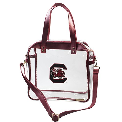 University of South Carolina Gamecocks Capri Designs Clearly Fashion Licensed Clear Carryall Tote Meets Stadium Requirements by CAPRI DESIGNS
