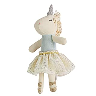 Mud Pie Blue TOP Unicorn Rattle