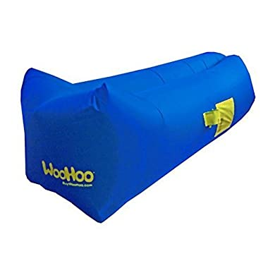 WooHoo™ -Inflatable Lounger Air Filled Balloon Furniture with Carry Bag. Inflates in Seconds. Hangout as Lounge Chair, Lamzac Bean Bag, Air Hammock, Sofa, Couch, Kaisr Original Air Bag (Blue)