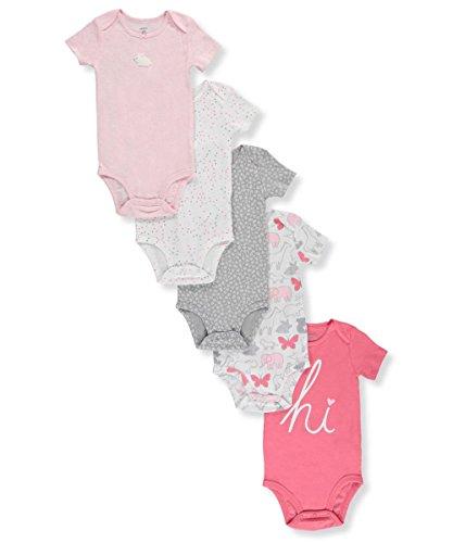 Carter's Baby Girls' 5-Pack Bodysuits Preemie ()
