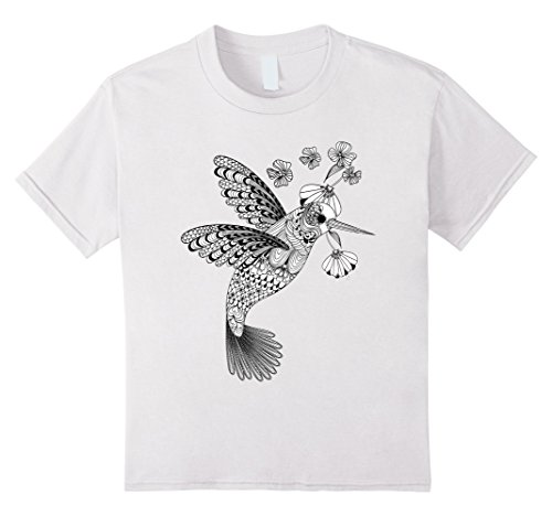Kids Color Me Hummingbird DIY T-shirt 12 White