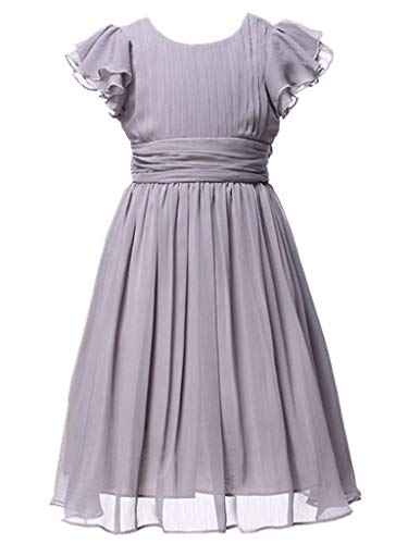 Happy Rose Flower Girl's Dress Prom Party Dresses Bridesmaid Dress Grey 10