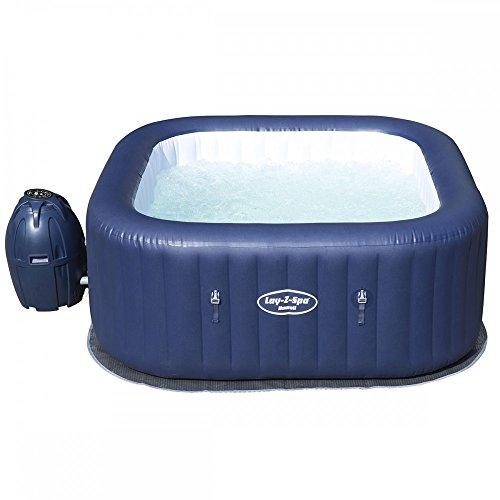 Rectangular Hot Tubs (Bestway Lay-Z-Spa Hawaii AirJet Inflatable Rectangular Hot Tub Rapid Heating)