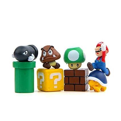 Amazon.com: ForteGlo Super Mario Bros – 8 piezas / lote DIY ...