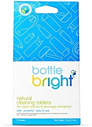 Bottle Bright- All Natural, Biodegradable, Chlorine & Odor Free Water Bottle & Hydration Pack Cleaning