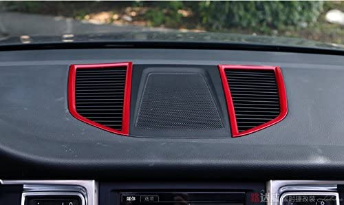 wroadavee Red Inner Center Dashboard Air Vent Outlet Cover Trim for Porsche Macan 2014-2018