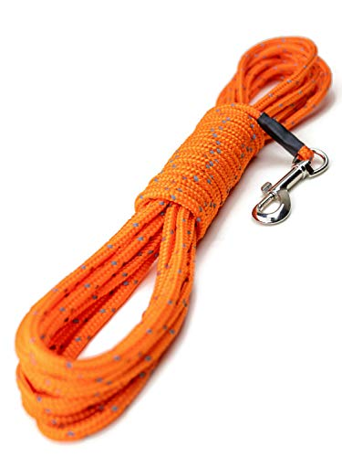 Mighty Paw Check Cord | Light Weight 30 Foot Dog Training Leash. Durable, Weather Resistant Climbers' Rope with…