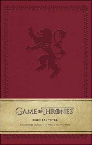 game of thrones house lannister ruled pocket journal insights journals