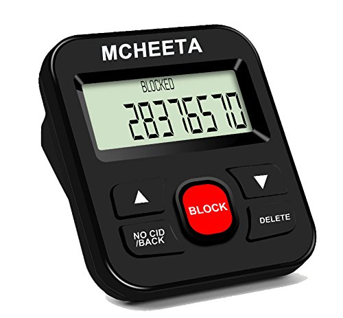Call Blocker - MCHEETA Premium Phone Call Blocker Landline Device - Simply Block All Unwanted Calls - Robocalls - Incoming Calls and Nuisance Calls by Pressing One Button