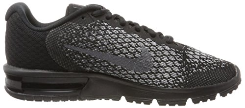 Nike Air Max Sequent 2-852461001 Nero / Metallizzato Ematite-grigio Scuro