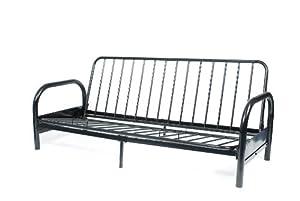 roundhill furniture black metal futon frame full amazon    roundhill furniture black metal futon frame full      rh   amazon