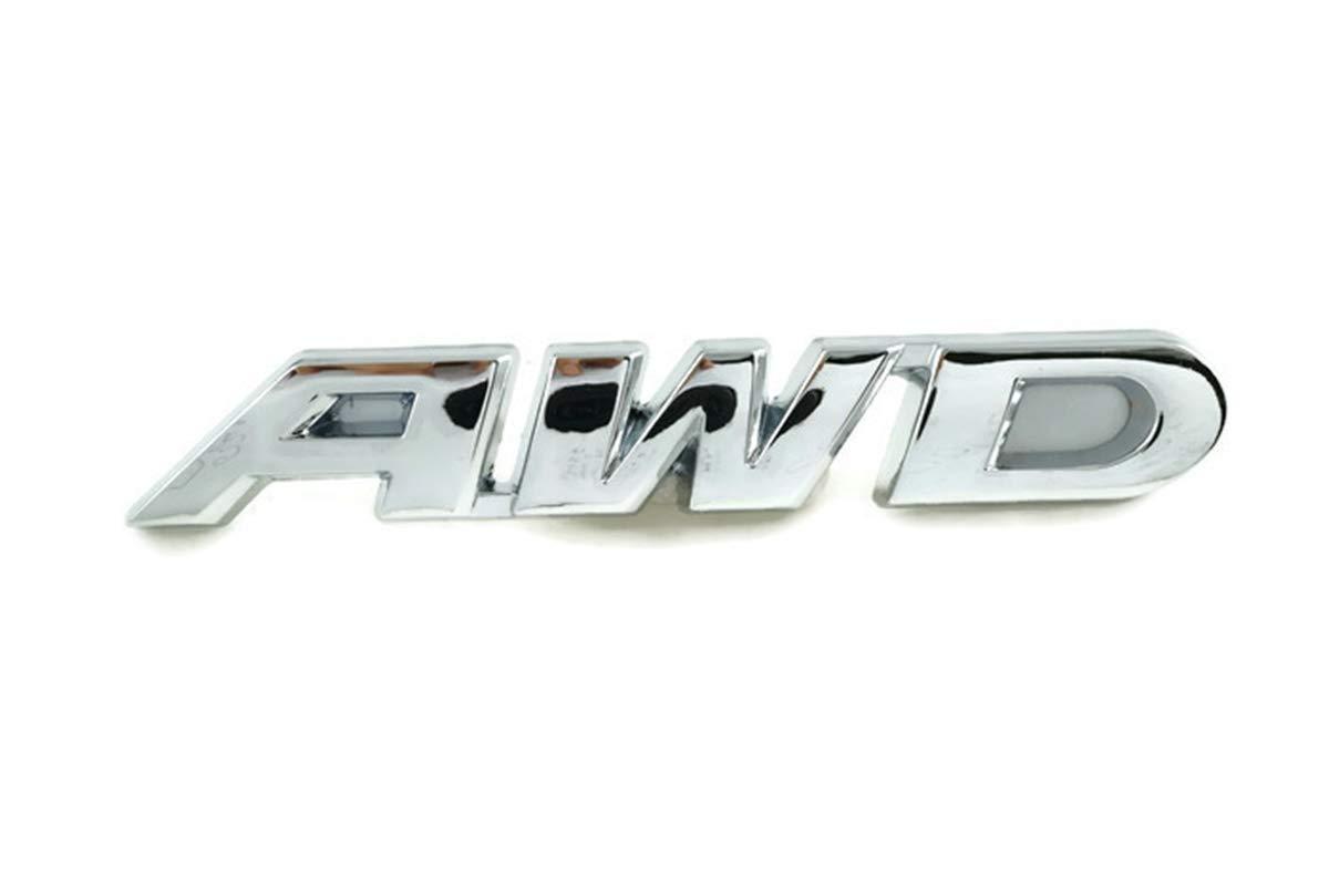PB-Autoparts AWD 3D Badge Decal Emblem Metal Chrome Size 9.3x1.5cm 3.65x0.6 inches