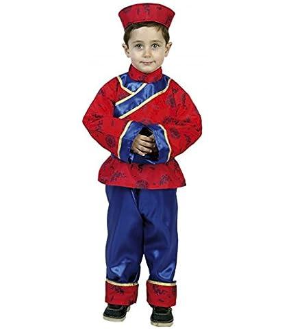 22323 Atosa-22323 Disfraz Chino Color Rojo 3 a 4 a/ños