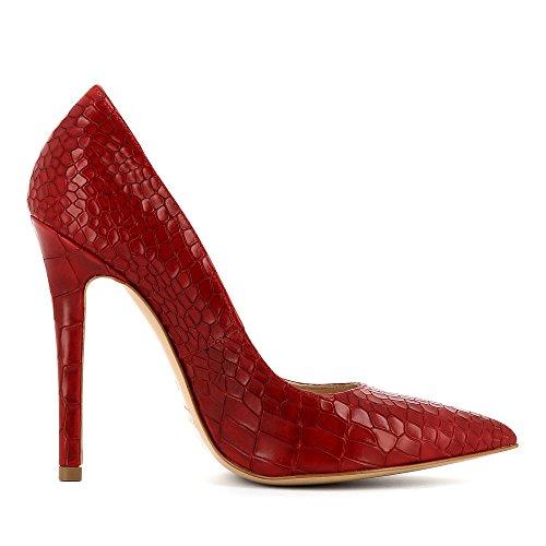 Evita Shoes Lisa - Zapatos de vestir de Piel para mujer Rojo