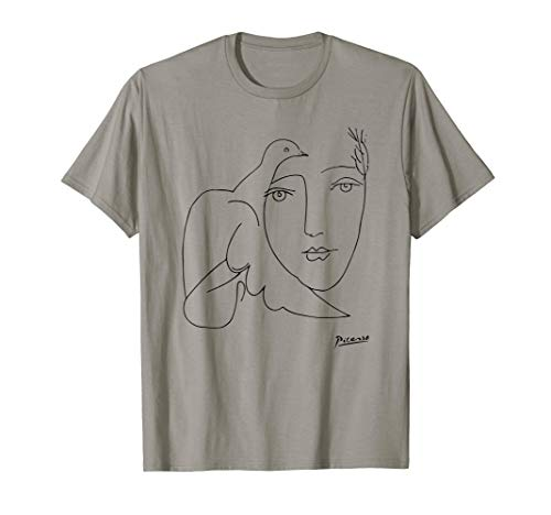 Peace (Dove and Face) T Shirt, Pablo Picasso Sketch Artwork (Pablo Picasso Best Artwork)