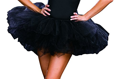 Black Tutu Costumes (Dreamgirl Tutu Petticoat Dress, Black, One)