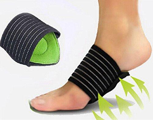 YunShuo Foot Arch Support Plantar Cushion Fasciitis Aid Fallen Arches Heel Pain Relief - Arch Bath Single
