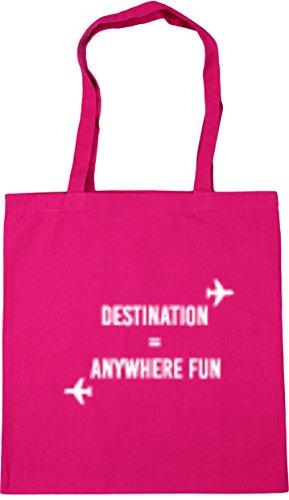 Bag 10 litres Tote Fun Beach HippoWarehouse Gym 42cm Fuchsia Destination x38cm Shopping Anywhere wvPqqHxt0