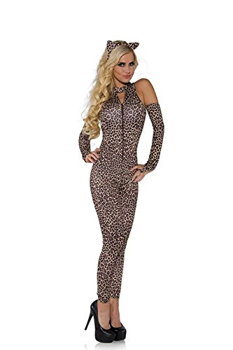 Underwraps Costumes Women's Sexy Leopard Costume - Jungle Cat, Leopard, (Leotard Leopard Costumes)