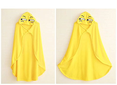 Halloween Christmas Green Cosplay Cape Poncho Outwear Fleece Hooded Cloak Costume Coral Yellow Orange Or COSPLAZA qdSPwvxzq