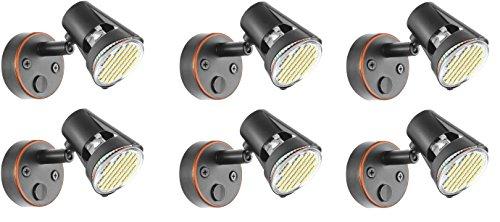 (Gold Stars RV Reading Light MR16 Base LED Bulb 12v (Oil Rubbed Bronze) 6 Pack)