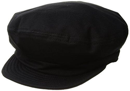 Unstructured Washed Twill Cap - Brixton Men's Fiddler Greek Fisherman Hat, washed black, Large