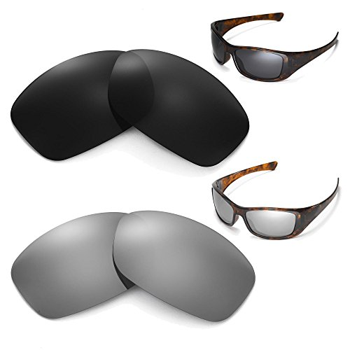 New Walleva Polarized Black + Titanium Lenses For Oakley Hijinx