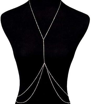 Women Crossover Abdominal Waist Bikini Body Chain Star Necklace Jewelry