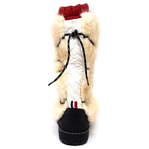 Moncler panna F1158 Uomo Beige Stivale Doposci Shoe Man Beige Boot cream Snow PqSPdrH