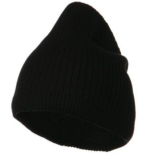 e4Hats.com Big Stripe Ribbed Cotton Beanie - Black OSFM