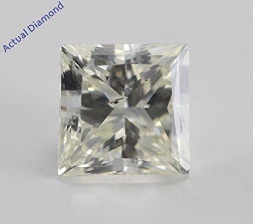 Diamant Princesse taillés (2.73 Ct, L Couleur,SI2 Clarté)
