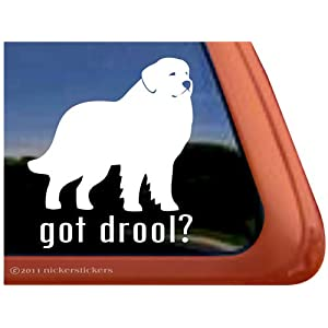 Got Drool? ~ Great Pyrenees Dog Vinyl Window Decal Sticker 15