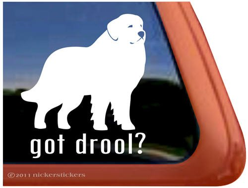 Got Drool? ~ Great Pyrenees Dog Vinyl Window Decal Sticker 1