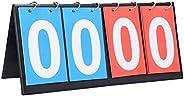 Sports Scoreboard - 2/3/4 Digit Portable Flip Score Board,Tabletop Score Flipper,Easy-Flip Scorekeeper with Nu